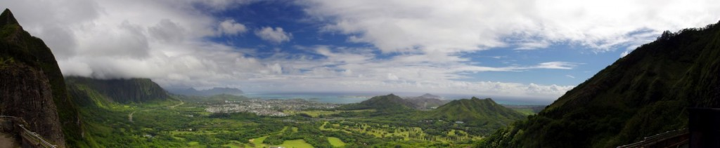 Hawaii Pali Lookout Panorama