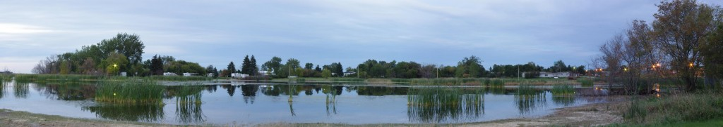 Panorama of Minnewaukan at Dusk Free Water Anyone?