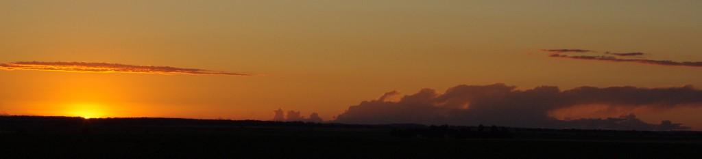North Dakota Sunset  PanoramaNear Cooperstown