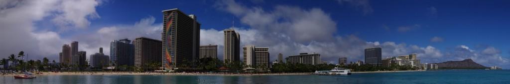 Waikiki Beach Panorama 2 Near the Hilton Garden Village