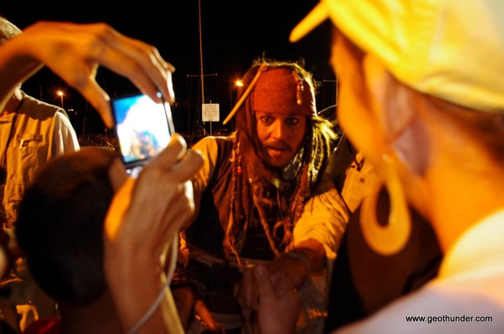 Johnny depp dressed as Jack Sparrow
