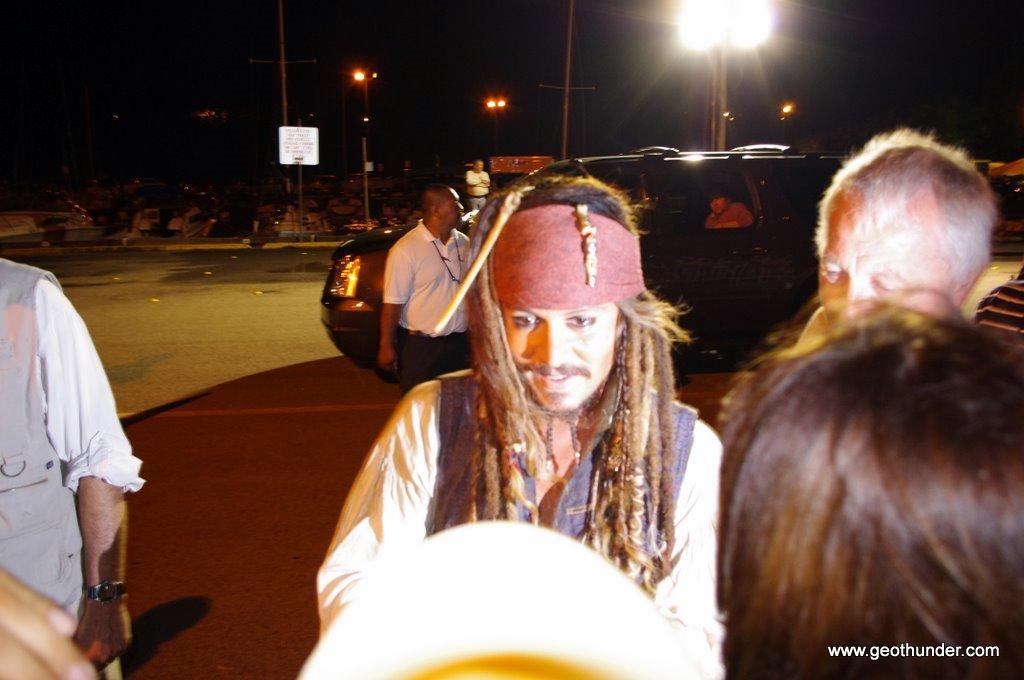 Johnny depp dressed as Jack Sparrow 2
