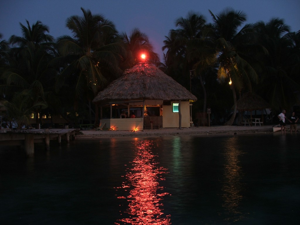Tropical Bar Belize Tobacco Caye Long Exposure
