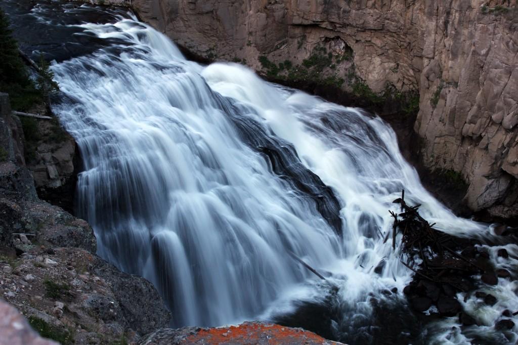 Epic waterfall Yellowstone NP