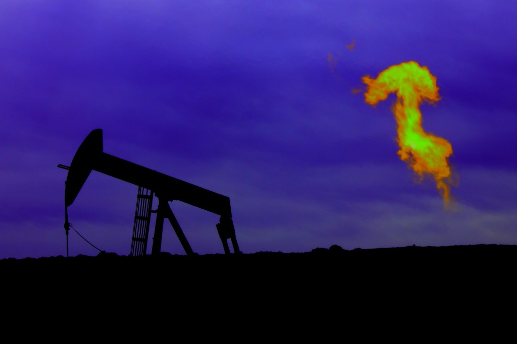 Pump Jack With Gas Flare