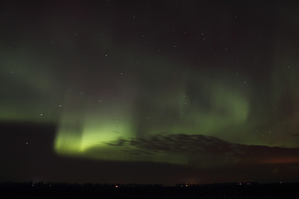 Bright Aurora Over Minnesota